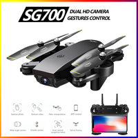 SG700 Selfie Drone FPV RC Qudacopter With 5MP/2MP HD Camera Foldable Dron Altitude Hold Helciopter Optical Follow Mode VS SG106