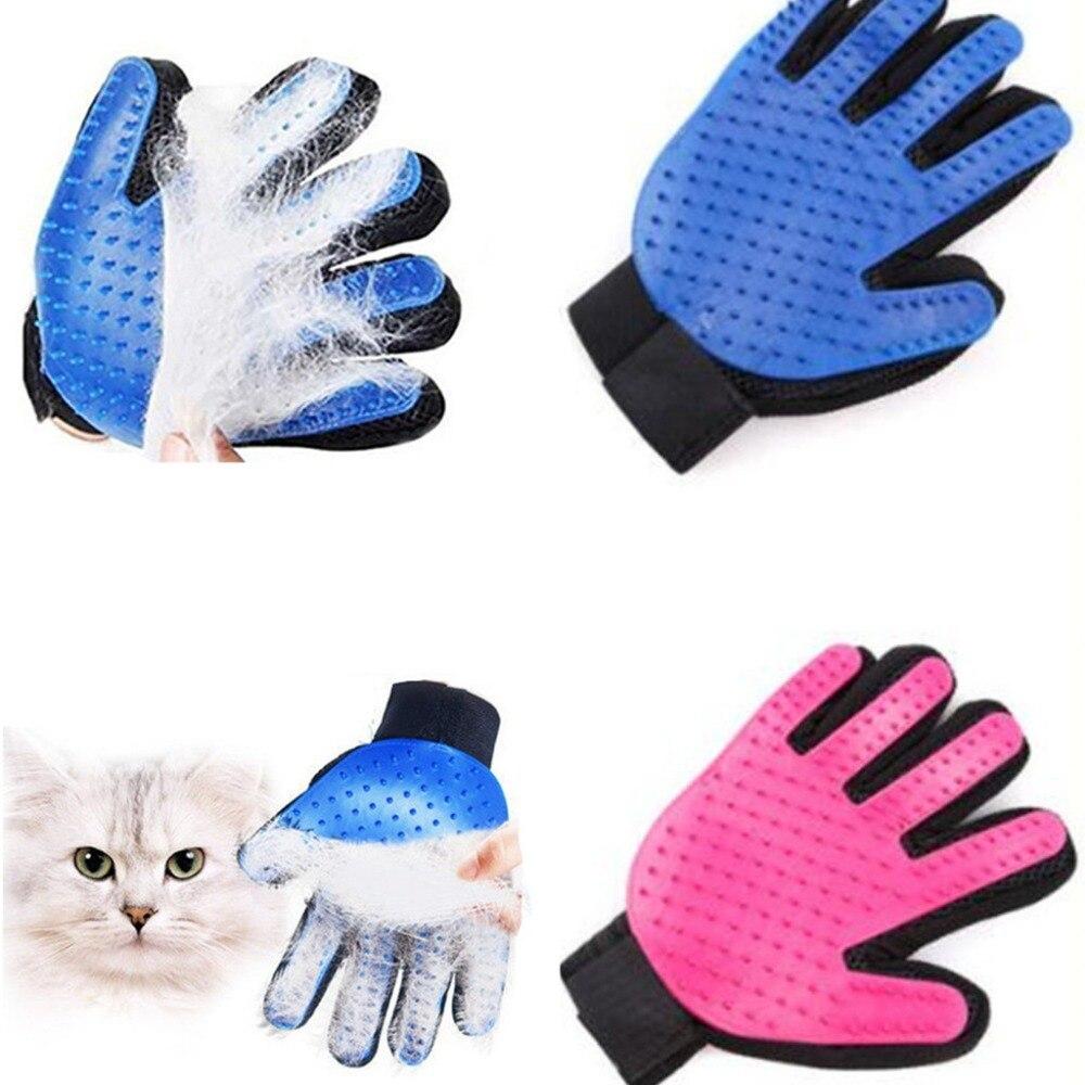 Caliente de silicona guante perro accesorios suave uso gatos guantes aseo baño pelo limpieza peine eficiente masaje mascotas proveedor