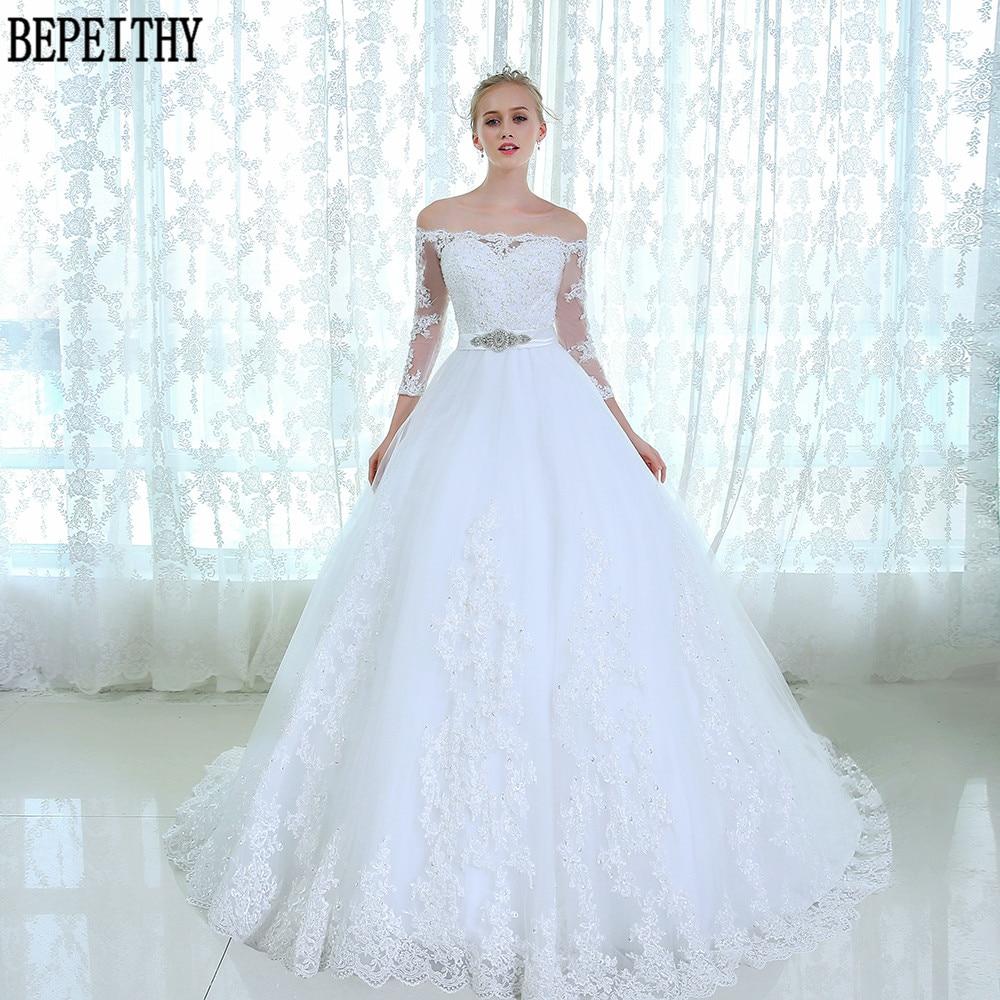 8ad190da ₩BEPEITHY Vestido de noiva koronka tiul suknia ślubna panny młodej ...