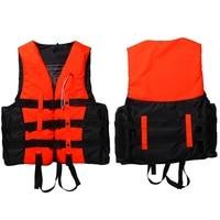 New S XXXL Sizes Polyester Adult Life Jacket Universal Swimming Boating Ski Drifting Foam Vest With