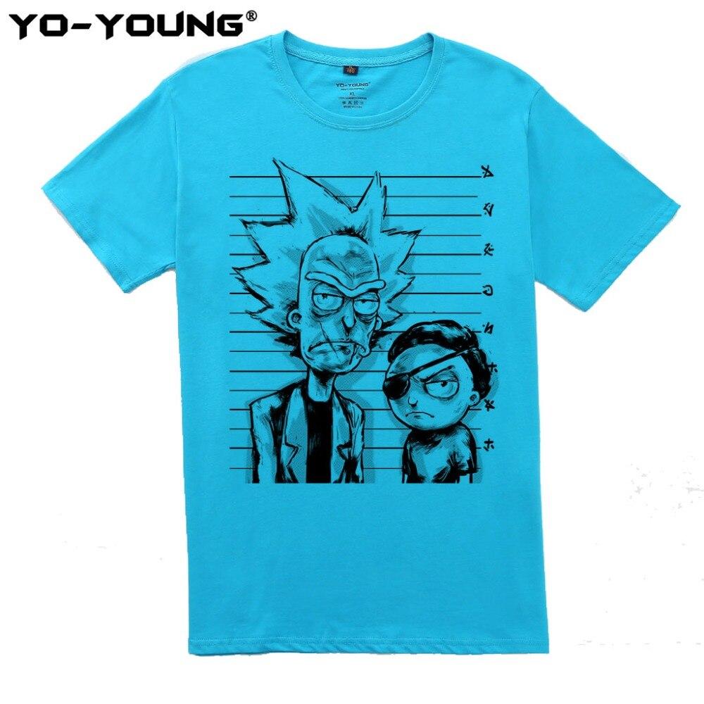 Yo-Young Rick Og Morty Bad Rick Men Premium T-shirts Roligt Design - Herretøj - Foto 2