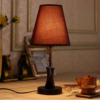 TUDA 20.5X43cm Free Shipping American Country Style Table Lamp Minimalist Design Wooden Table Lamp Living Room LED Table Lamp