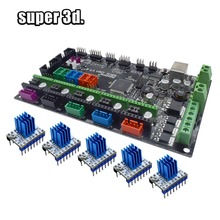 Запчасти для 3D-принтера MKS Gen V1.4 плата управления Mega 2560 R3 Материнская плата RepRap Ramps1.4 + A4988/TMC2130/TMC2208/DRV8825 драйвер