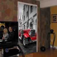 Prague Square Car Waterproof Door Wall Sticker Poster Landscape Waterproof Bedroom Living Room Mural Wrap Home