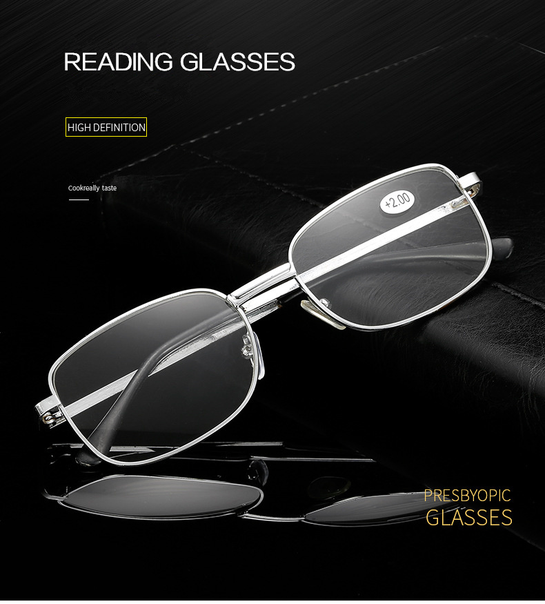 2808db60c2 Comprar ahora. VCKA Rimless Reading Glasses Men Titanium Alloy Fold Women  Square Eyeglasses ...