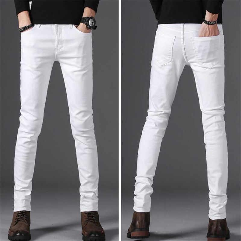 3efcb4d3d3 Winter style men s casual High Quality Slim Fit Trousers elastic men Jeans  Fashion Classic Denim Skinny