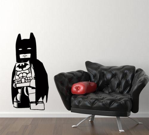 2016 horký karton Batman Superhero Hero Kids Dětská dětská ložnice nálepka na zeď Obrázek doprava zdarma
