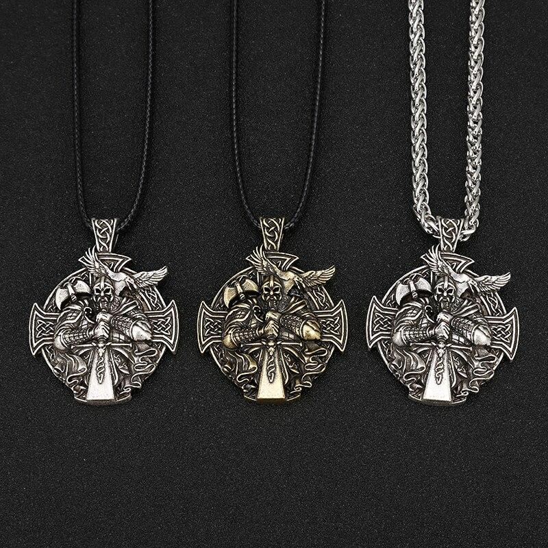 Nordischen Viking Odin durch Helena Rosova Halsketten Heathen Kreuz Raven Anhänger Halskette Vikings Schmuck