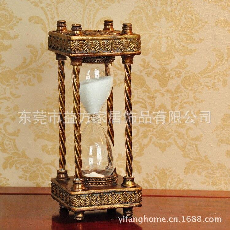 C décorations pour la maison salon chambre den coins résine artisanat ornements grand sablier minuterie