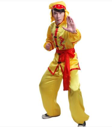 China Classic embroidered dragon border folk style group activities dragon dance lion dragon dance suits martial arts costume in Sets from Novelty Special Use