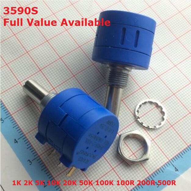 1PC Precision Multi Turn Potentiometer 1K 2K 5K 10K 20K 50K 100K 100R 200R 500R 3590S-2-103/104/503/101/201/501/102/202/502/203