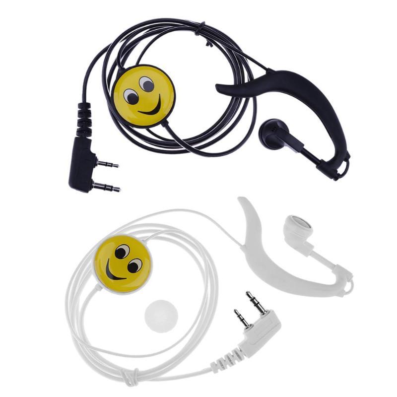 2 Pin Ear Hanging Earpiece Mic PTT Headset for Kenwood BAOFENG TYT Radio for Bao Feng k head walkie-talkie 2 pin acoustic tube headset police bouncer ptt mic earpiece for baofeng for kenwood radio od s