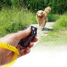 2018 New Portable Dog Button Click Sound Trainer Pet Training Tool Wrist Band Accessory NE725(China)