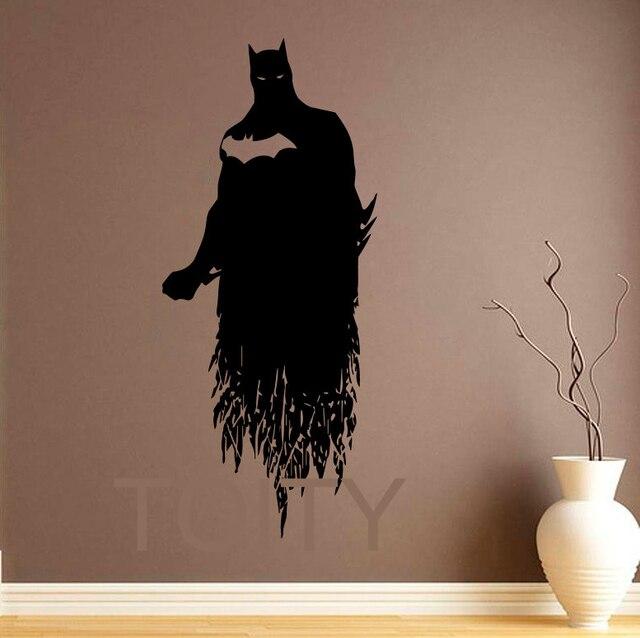 Batman wall sticker dark knight poster vinyl decal art for Dark knight mural