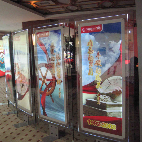 Acrylic Box To Hang On Wall : Aliexpress buy pcs lot quot x crystal frame led