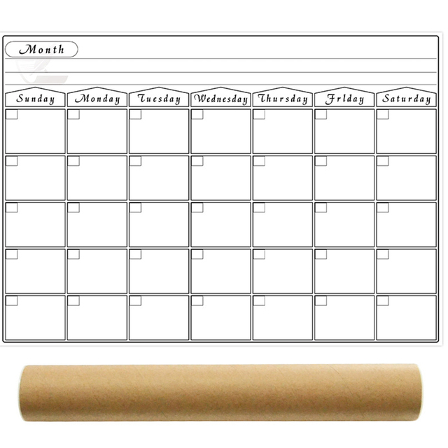 Umitive 1pcs Magnetic Dry Erase Calendar for Fridge White Board Family Schedule Week Monthly Planner waterprooftime management 1