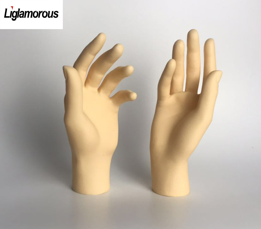 Hand Model,Female Hand Mannequin Jewelry Display Stand Model Dummy Torso Model Mannequin Hand Ring Bracelets Gloves Jewelry Display Simulated Female Hand