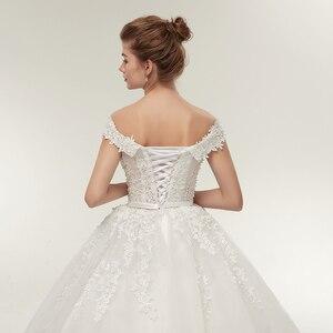 Image 5 - Fansmile Vestido de novia de talla grande, Encaje Vintage, Bola de tul, personalizado, Envío Gratis FSM 141F, 2020