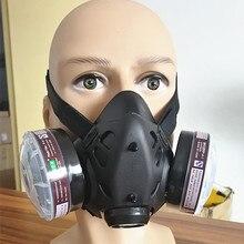 jiean9578 половина лица противогаз N95 маска от химической Пыли Фильтр дыхательные респираторы для окрашивания Спрей Сварки