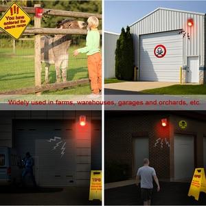 Image 5 - Солнечная сигнальная лампа 110 дБ, Предупреждение ющий звук 6 светодиодов, красный светильник IP65, водонепроницаемый датчик движения, предупреждающий светильник s для секретной стены склада