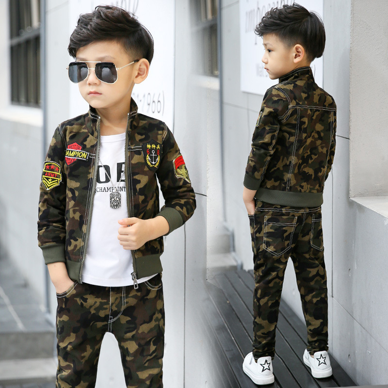 Autumn Boys Clothes Set Winter Baby Boy Outwear Coats Spring Long Sleeve Jackets and Pants 2pcs Warm Children Clothing Set Pants недорого