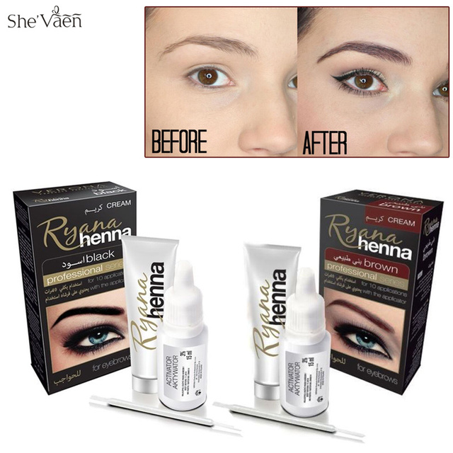 Aliexpress.com : Buy Ryana Henna Natural Eyebrow Tint Kit Brown ...