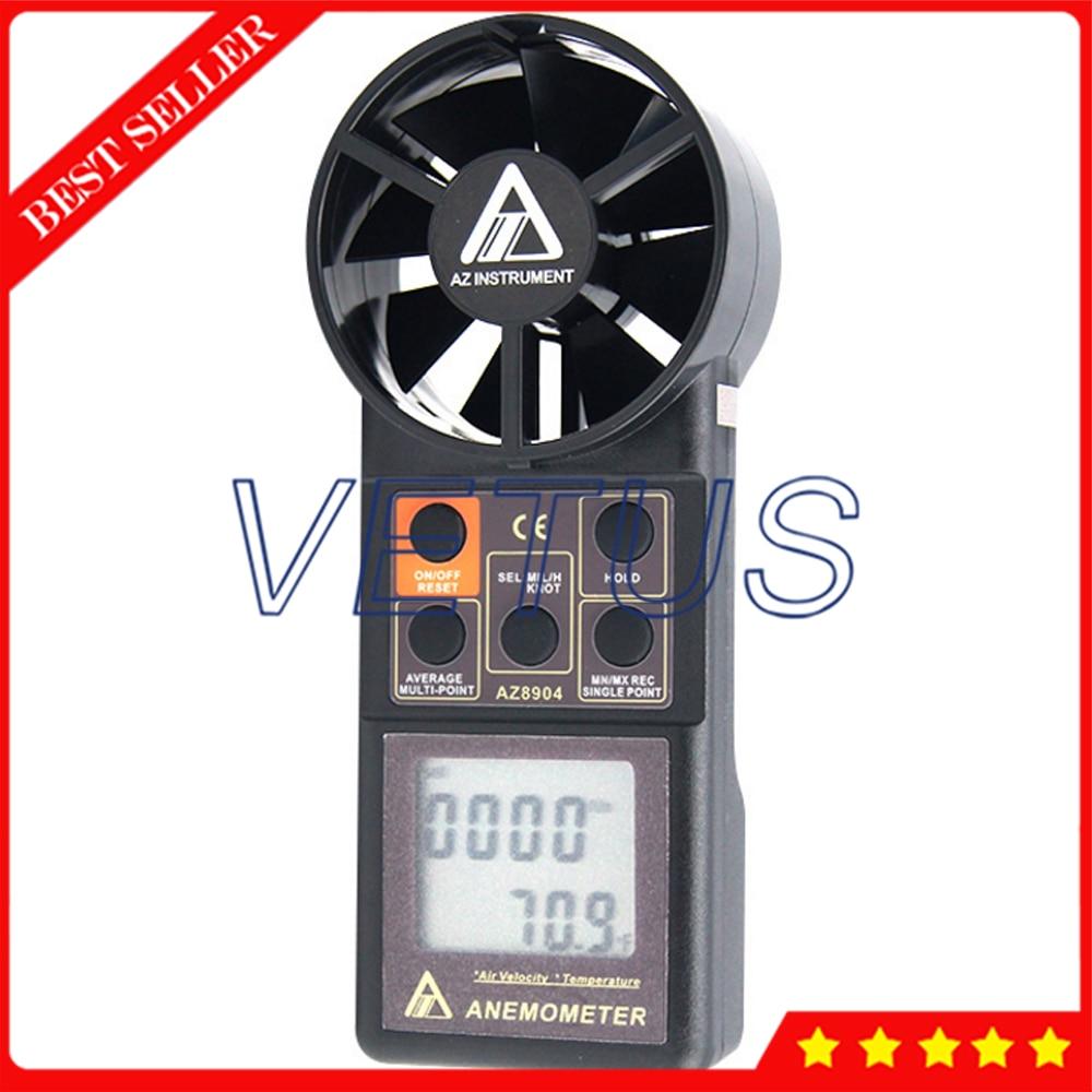 все цены на AZ8904 Handheld digital anemometer wind speed meter wind speed tester electronic measuring instruments Air Volume Meter онлайн