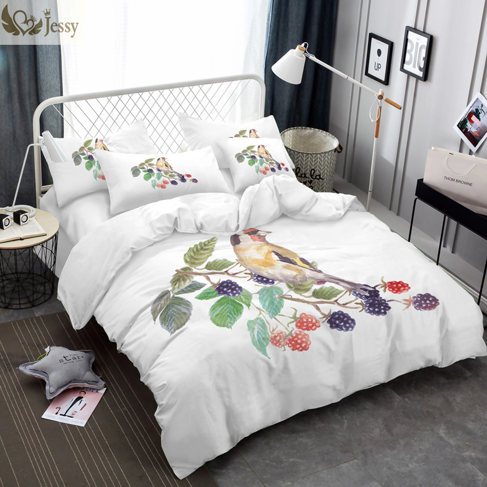 BEDLININGS Bohemian duvet cover set of 3 Indian ethnic print bedding set with microfiber duvet cover with zippered pillowcase,A,FULL 1*pillowcase