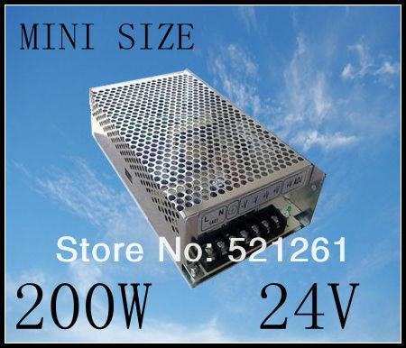 DIANQI power supply 24v 200w 24V 8.3A power suply 200w 24v mini size power supply unit led  ac dc converter ms-200-24