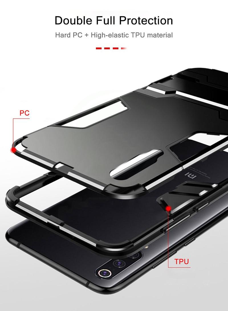 HTB1BkOXXl1D3KVjSZFyq6zuFpXak Bat Kickstand Case For Samsung Galaxy S9 S10 Plus S10e Note 9 Samsung A70 A50 A30 M30 M20 Shockproof Armor TPU + PC Tough Cover