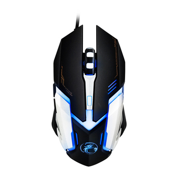 Professional Wired Gaming Mouse USB Optical Mouse 6 Buttons PC Computer Mouse Gamer Mice 4800dpi For Dota 2 LOL Game V6 เมาส์