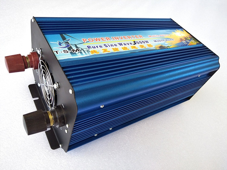 цена на dual digital display Full power 3000W DC TO AC Inverter 24V to 220V Pure sine wave Car Inverter,free shipping