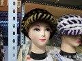 Sombreros de piel real de piel de visón superior fahsion mujeres casquillo caliente del invierno freeshipping