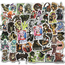 50 шт. смешанные панк-Стикеры для скейтборда, багажа, мотоцикла, шлем для ноутбука, автомобиля, Стайлинг, ПВХ, ужас, темно-крутая наклейка
