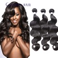 Brasileño de la virgen del pelo onda del cuerpo 3 bundles armadura del pelo humano producto goddess hair bruto brasileño de la virgen body wave trama del pelo