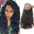 360 Lace Frontal Brazilian Virgin Body Wave With Baby Hair Human Hair Lace Band Frontal Closure Dhl Ups Free Shipping