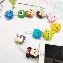 Universal socket Lovely Charger phone holder Cartoon Protector Cable Cord Saver Sleeve Cover For iPhone 6S 7 8 plus X Xs MAX XR(China)