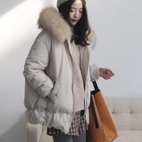Winter Jacket Women Parka With Real Fur Hood Coat 2018 Winter Women Jacket White Duck Down Coats Parkas Female Outwear Jackets