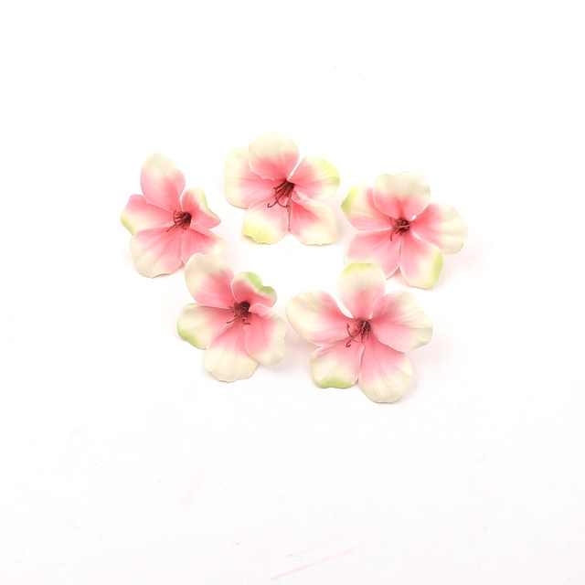 Silk Artificial Orchid Flower Heads for Wedding Party 20 pcs Set