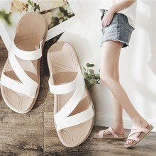 HEBENDUO Womens slippers manufacturer directly sells new sandals, casual, fashionable flat-soled Roman student