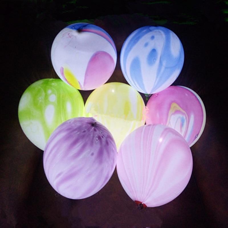 LED 풍선 12 인치 여러 가지 빛깔의 구름 구름 풍선 크리스마스 Hollween 장식 웨딩 생일 파티 용품