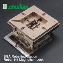 Estação de reballing bga, kit de estação de reballing bga de 90x90mm 80x80mm com 10 peças de bga bolas de solda universais, bolas de solda