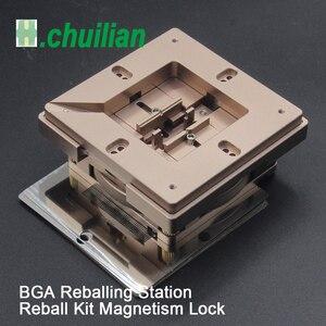 Image 1 - Estação de reballing bga, kit de estação de reballing bga de 90x90mm 80x80mm com 10 peças de bga bolas de solda universais, bolas de solda