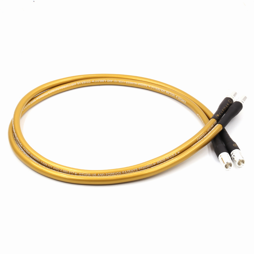 one pair 1M audio cables GOLDEN 5C audio cable RCA interconnect cable extension cable