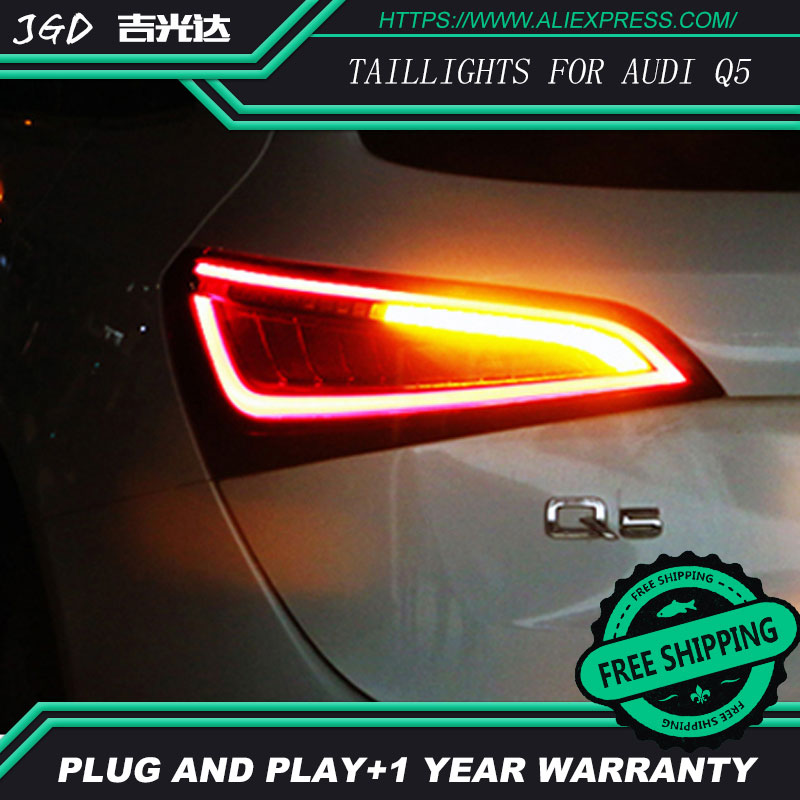 Image 4 - Car Styling taillight tail lights for Audi Q5 2009 2015 LED Tail Lamp rear trunk lamp cover drl+signal+brake+reverse taillights-in Car Light Assembly from Automobiles & Motorcycles