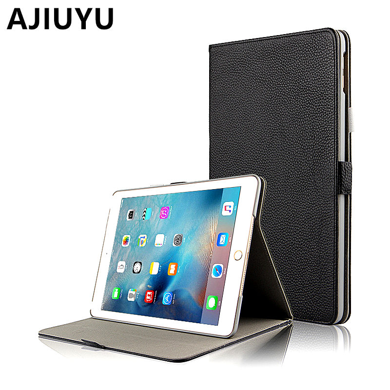 AJIUYU For Apple iPad 9.7 inch New 2017 Case Genuine Leather Cowhide Cases Protective Smart Cover Protector Tablet newiPad9.7
