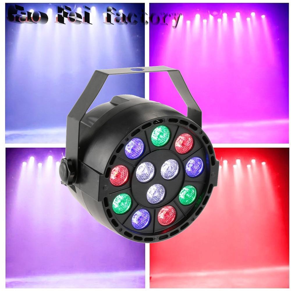 Led Par Wash DMX 12X3W  RGBW  Par Stage Light For DJ Party