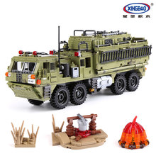 XINGBAO 1377PCS Military Army Series The Scorpion Heavy Truck Set Building Blocks Armored Truck Bricks Compatible Legoings Toys цена