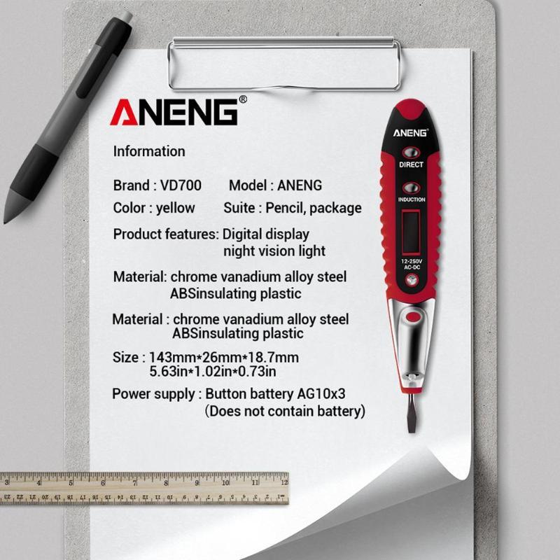 new 2020 LCD Digital Display Voltage Test Pen AC70 ~ 250V