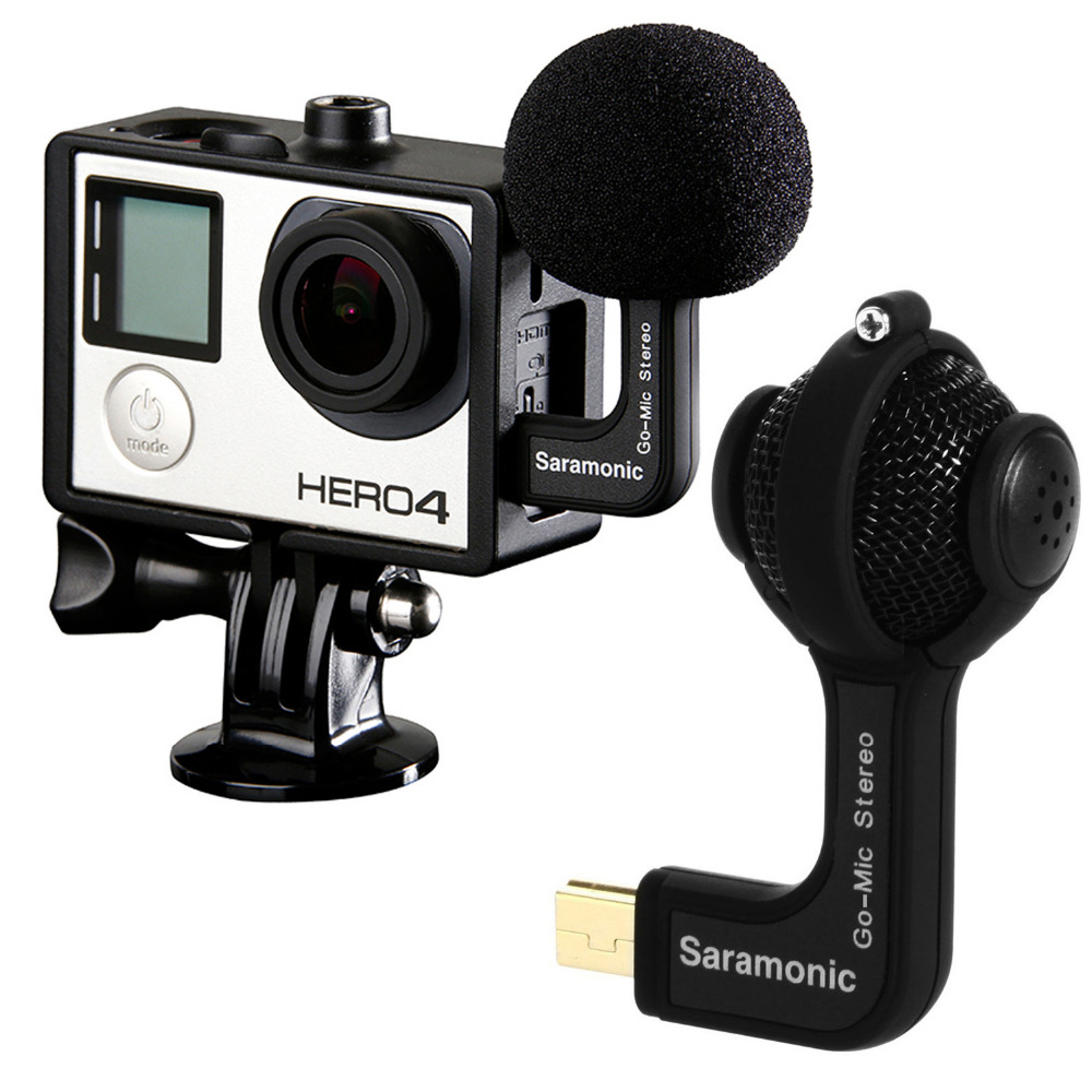 Saramonic GoMic Professional Mini Dual X/Y Stereo Ball Condenser Microphone for GoPro HERO3, HERO3+, HERO4 Action Cameras